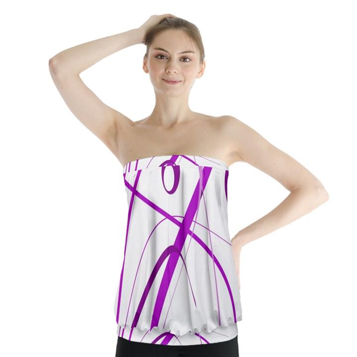 Purple elegant design Strapless Top