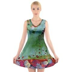 Imageedit 345 2043022904 V-Neck Sleeveless Skater Dress