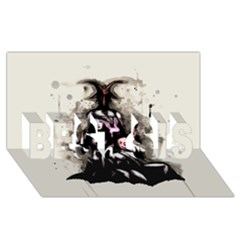 No Rest For The Wicked BEST SIS 3D Greeting Card (8x4)