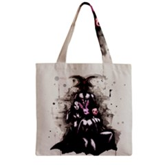 No Rest For The Wicked Zipper Grocery Tote Bag