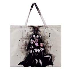 No Rest For The Wicked Zipper Large Tote Bag