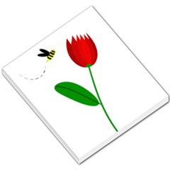 Red Tulip And Bee Small Memo Pads