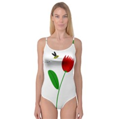Red tulip and bee Camisole Leotard