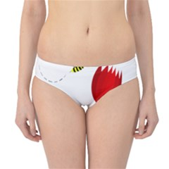 Red tulip and bee Hipster Bikini Bottoms