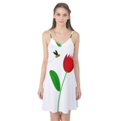 Red tulip and bee Camis Nightgown