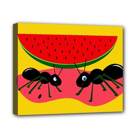 Ants and watermelon  Canvas 10  x 8