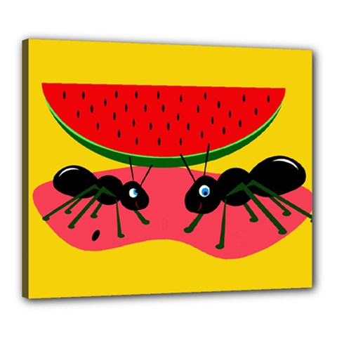 Ants and watermelon  Canvas 24  x 20
