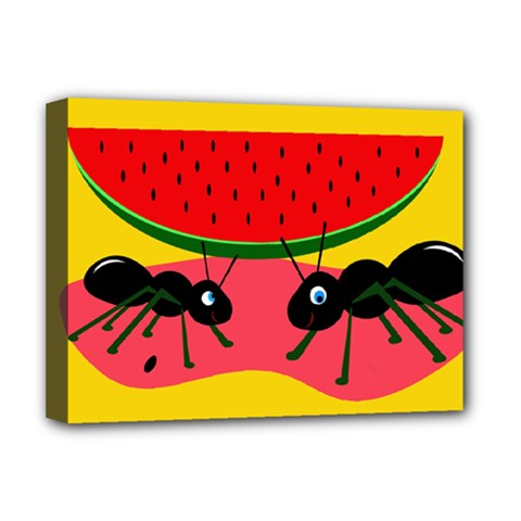 Ants and watermelon  Deluxe Canvas 16  x 12