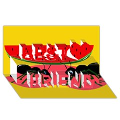 Ants And Watermelon  Best Friends 3d Greeting Card (8x4)