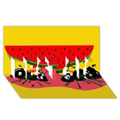Ants And Watermelon  Best Sis 3d Greeting Card (8x4)