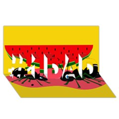 Ants and watermelon  #1 DAD 3D Greeting Card (8x4)