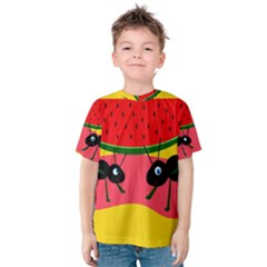 Ants And Watermelon  Kid s Cotton Tee