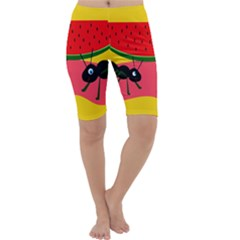 Ants and watermelon  Cropped Leggings