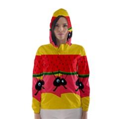 Ants And Watermelon  Hooded Wind Breaker (women)