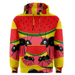 Ants and watermelon  Men s Pullover Hoodie