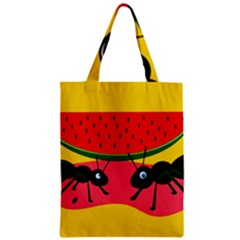 Ants and watermelon  Zipper Classic Tote Bag