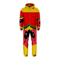 Ants and watermelon  Hooded Jumpsuit (Kids)