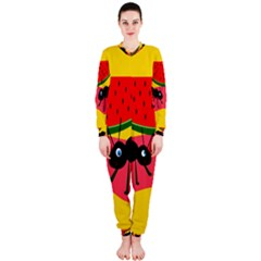 Ants and watermelon  OnePiece Jumpsuit (Ladies)