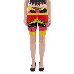 Ants and watermelon  Yoga Cropped Leggings