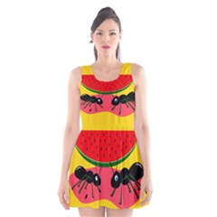Ants and watermelon  Scoop Neck Skater Dress