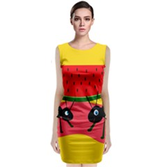 Ants and watermelon  Classic Sleeveless Midi Dress