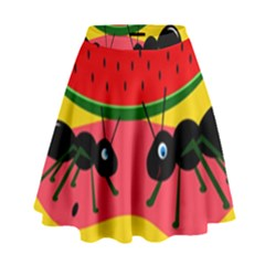 Ants And Watermelon  High Waist Skirt