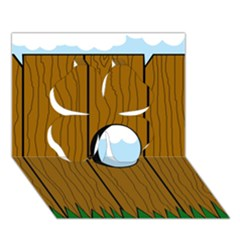 Over The Fence  Clover 3d Greeting Card (7x5)