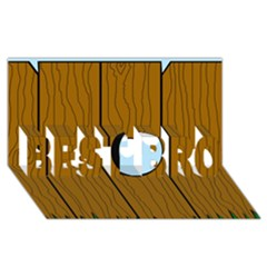 Over the fence  BEST BRO 3D Greeting Card (8x4)
