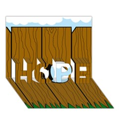 Over the fence  HOPE 3D Greeting Card (7x5)