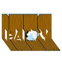 Over the fence  PARTY 3D Greeting Card (8x4)
