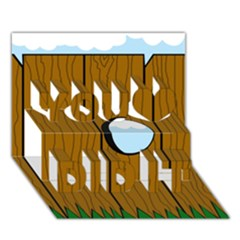 Over the fence  You Did It 3D Greeting Card (7x5)
