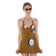 Over the fence  Halter Swimsuit Dress