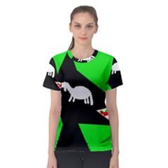 Wolf and sheep Women s Sport Mesh Tee