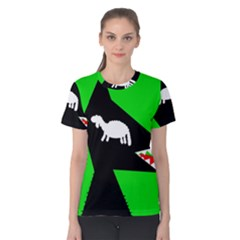 Wolf and sheep Women s Cotton Tee