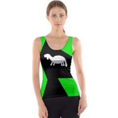 Wolf and sheep Tank Top