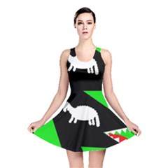 Wolf and sheep Reversible Skater Dress