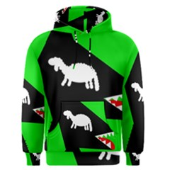 Wolf and sheep Men s Pullover Hoodie