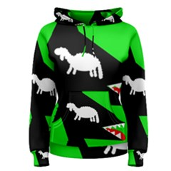 Wolf and sheep Women s Pullover Hoodie