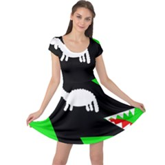 Wolf and sheep Cap Sleeve Dresses