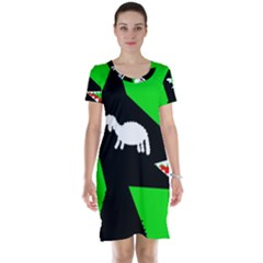 Wolf and sheep Short Sleeve Nightdress