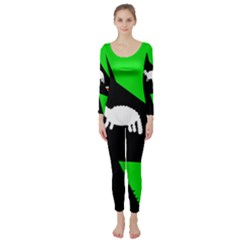 Wolf And Sheep Long Sleeve Catsuit