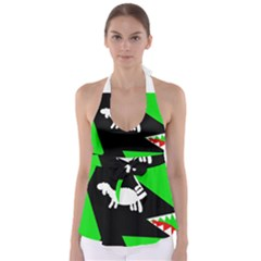 Wolf and sheep Babydoll Tankini Top