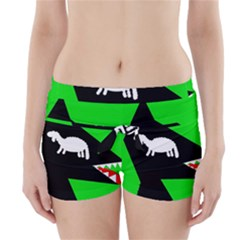 Wolf And Sheep Boyleg Bikini Wrap Bottoms