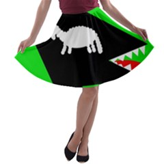 Wolf and sheep A-line Skater Skirt
