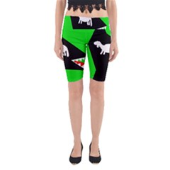 Wolf and sheep Yoga Cropped Leggings