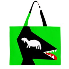 Wolf and sheep Large Tote Bag