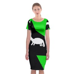 Wolf And Sheep Classic Short Sleeve Midi Dress