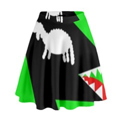 Wolf And Sheep High Waist Skirt