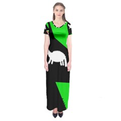 Wolf And Sheep Short Sleeve Maxi Dress