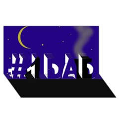 Cat on the roof  #1 DAD 3D Greeting Card (8x4)